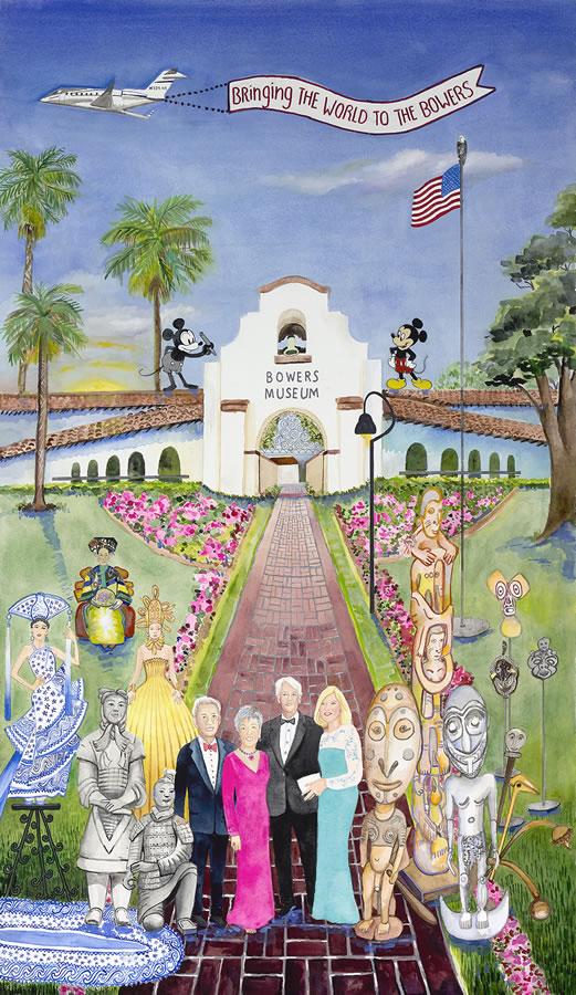 洛杉磯的禮物:水彩中的記憶 ——紀念葛兒·加納·洛斯基經典作品展即將開幕